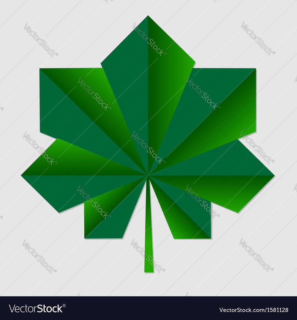 Chestnut origami green leaf vector   Price: 1 Credit (USD $1)