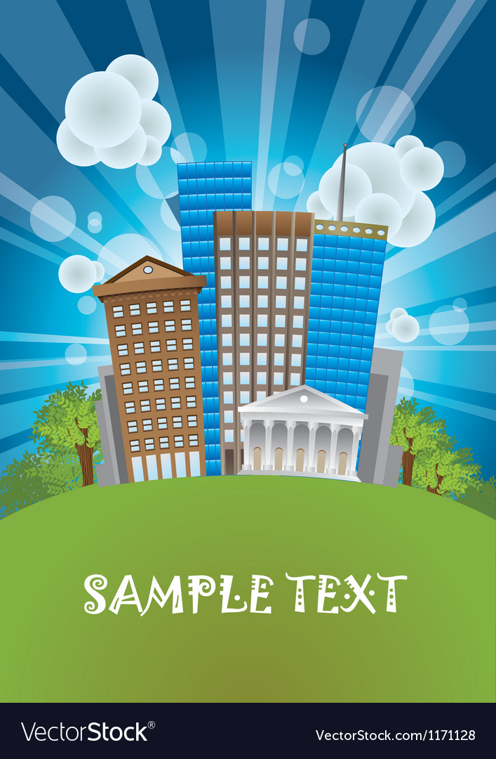 City poster background vector | Price: 1 Credit (USD $1)