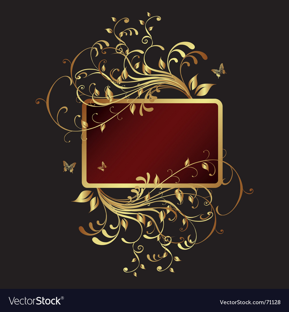 Golden frame banner vector | Price: 1 Credit (USD $1)