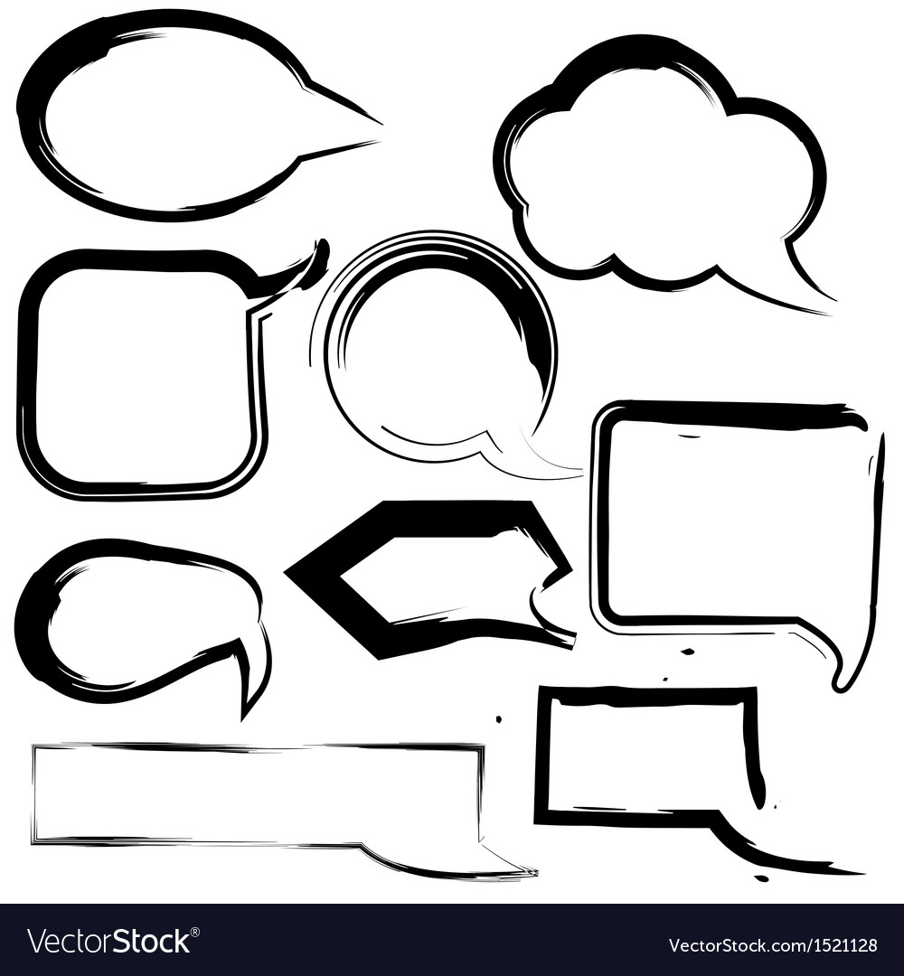 Grunge speech and thought bubbles vector | Price: 1 Credit (USD $1)