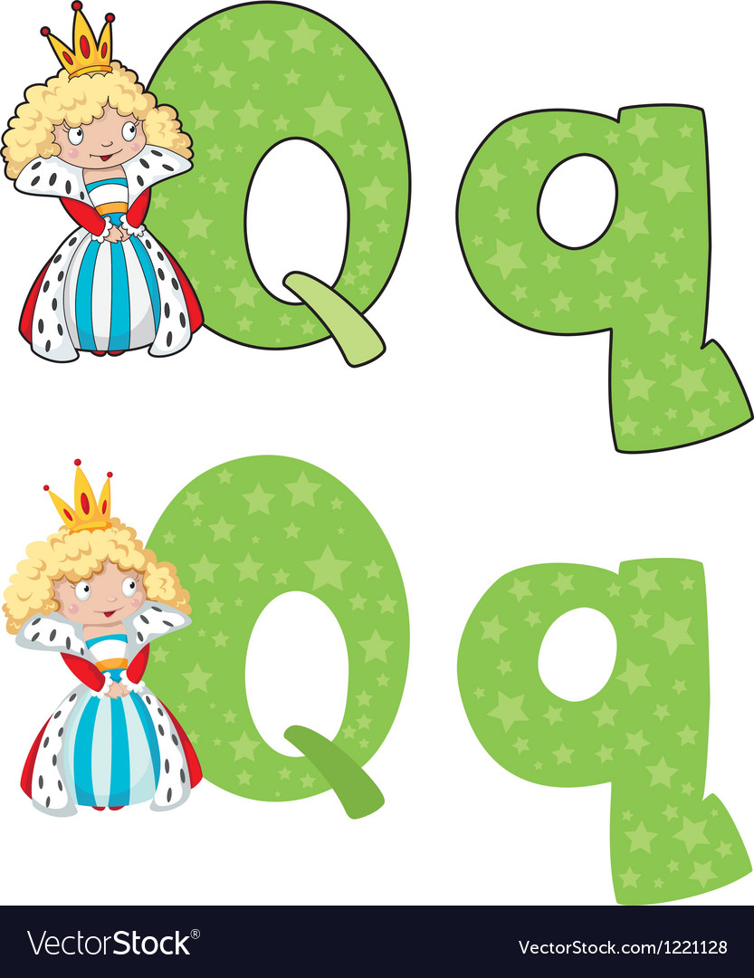 Letter q queen vector | Price: 1 Credit (USD $1)