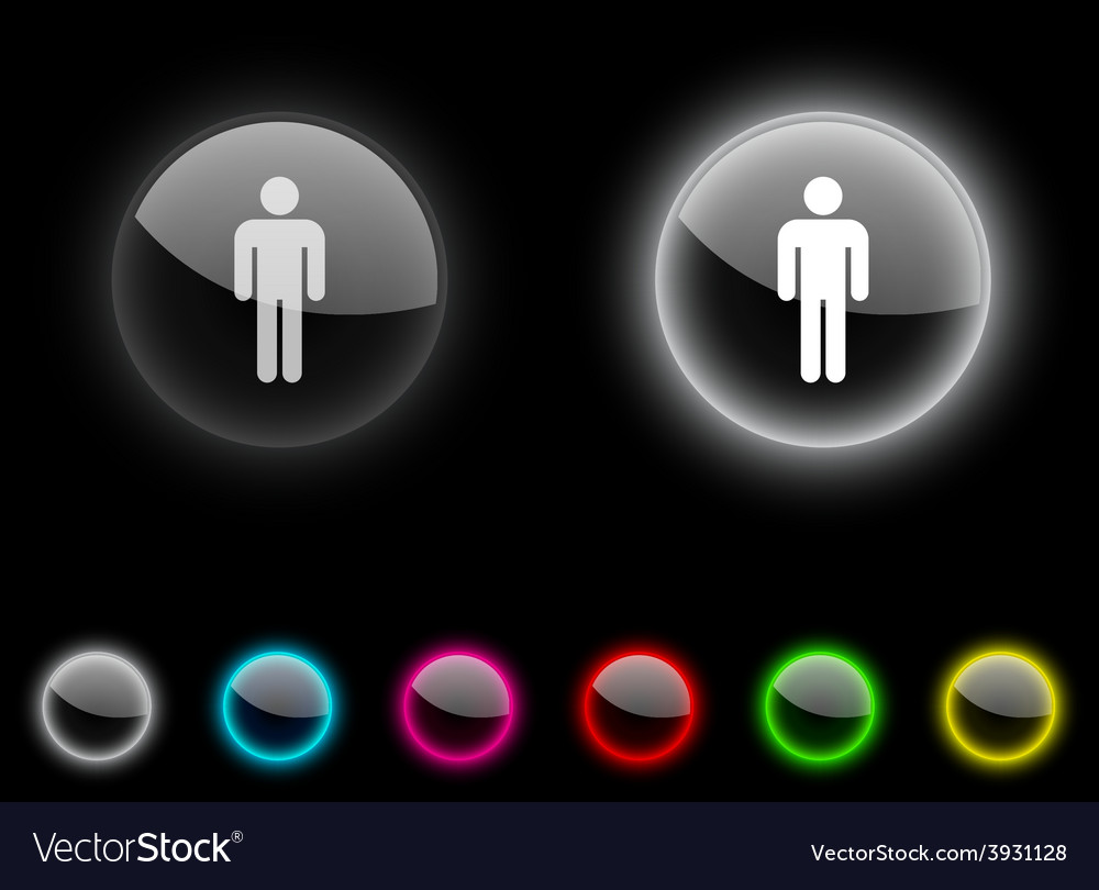 Male button vector | Price: 1 Credit (USD $1)