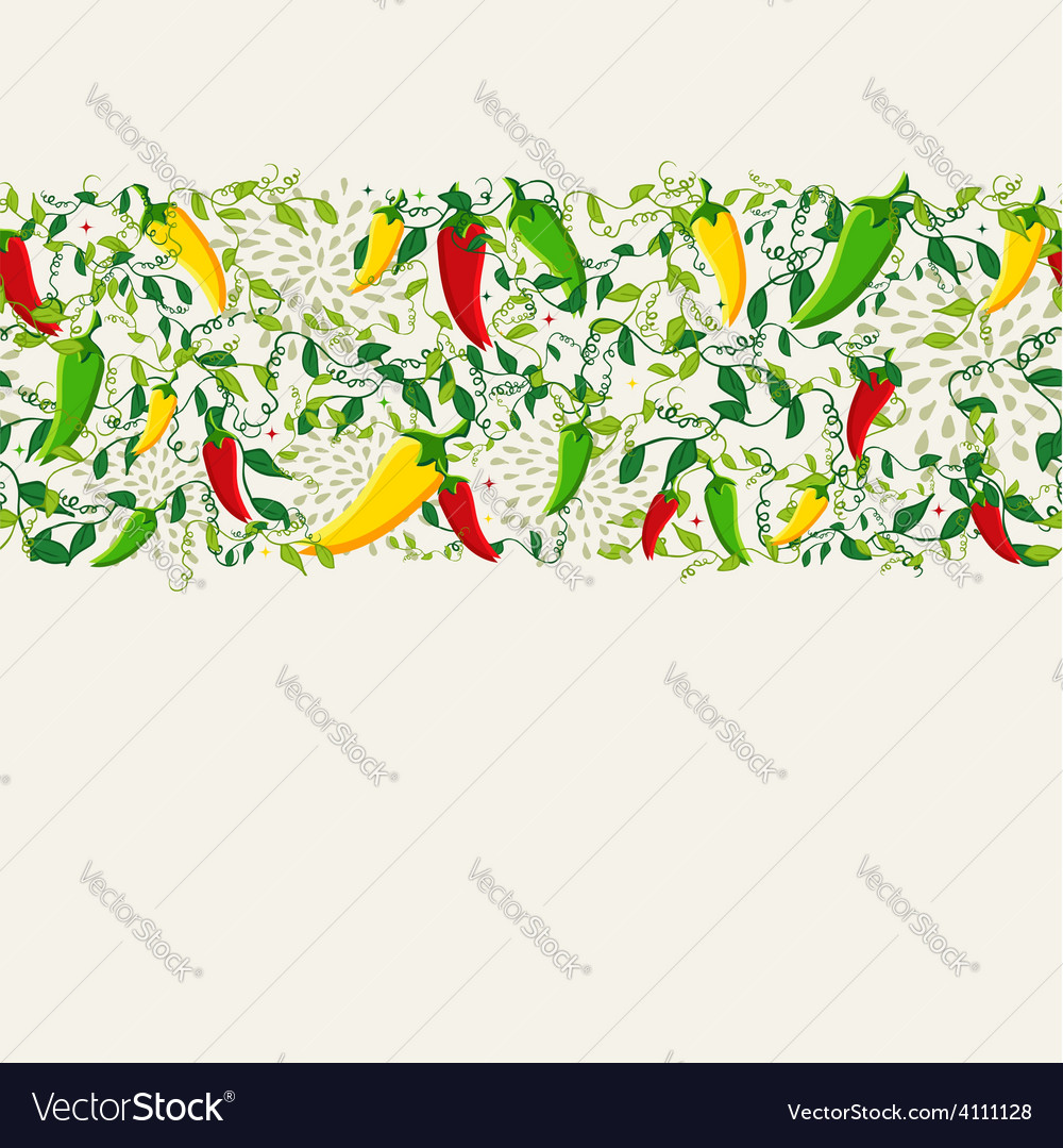 Mexican chili pepper pattern design vector | Price: 1 Credit (USD $1)