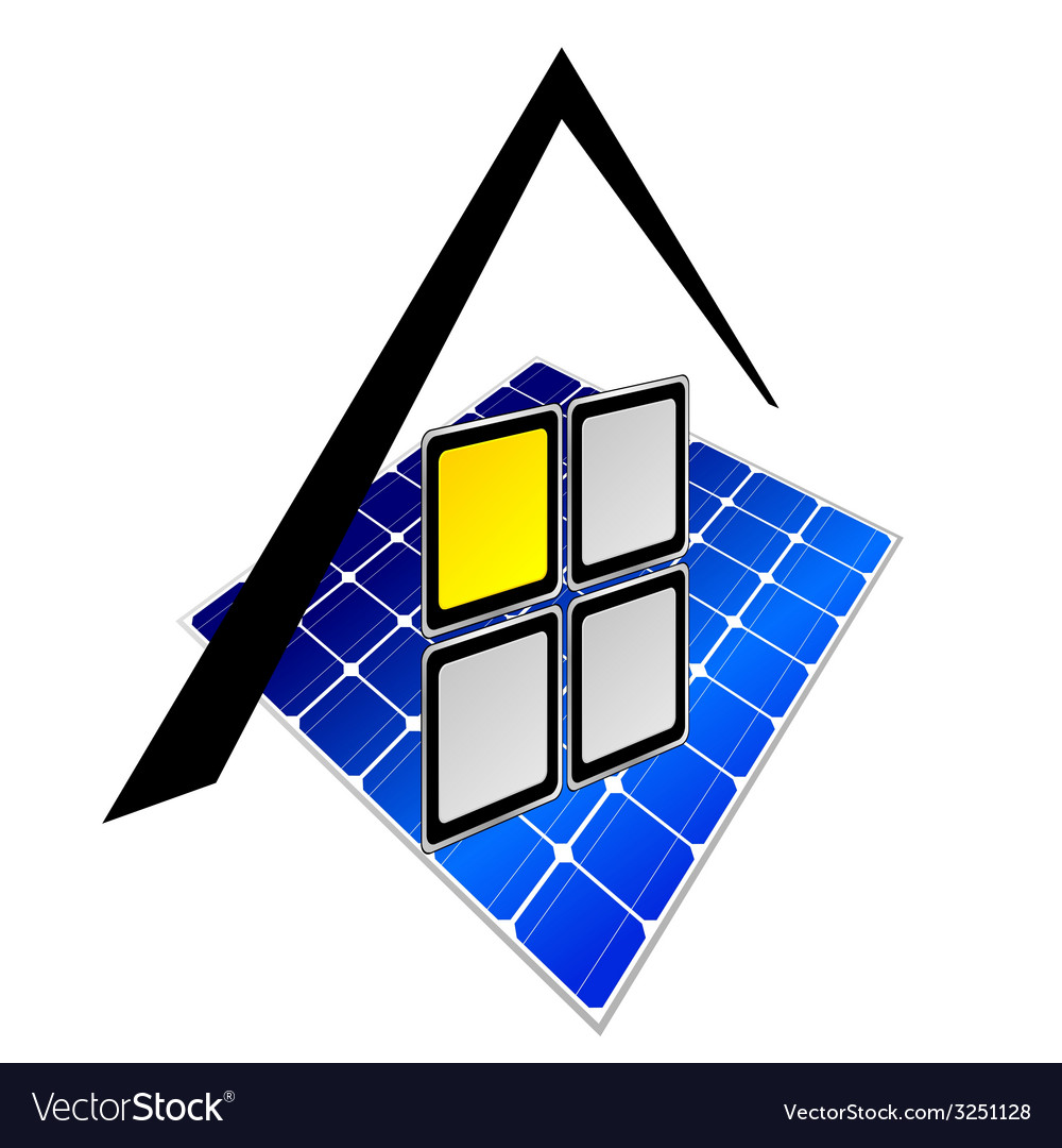 Solar panels part two vector | Price: 1 Credit (USD $1)