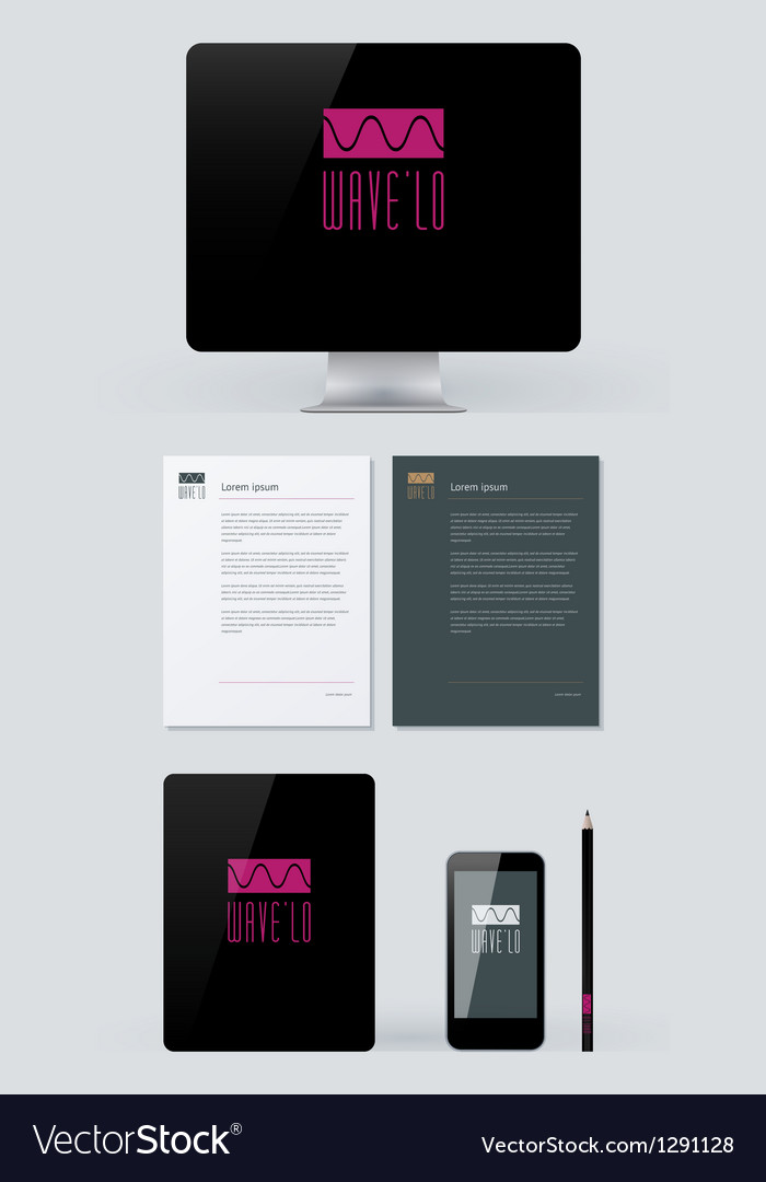 Stationery branding mock-up template vector | Price: 3 Credit (USD $3)