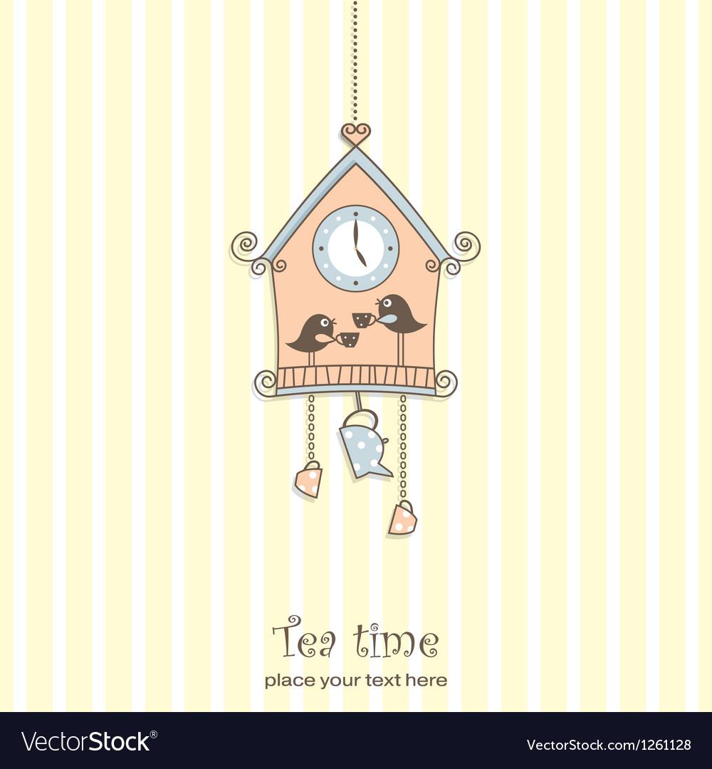 Tea time card vector | Price: 1 Credit (USD $1)