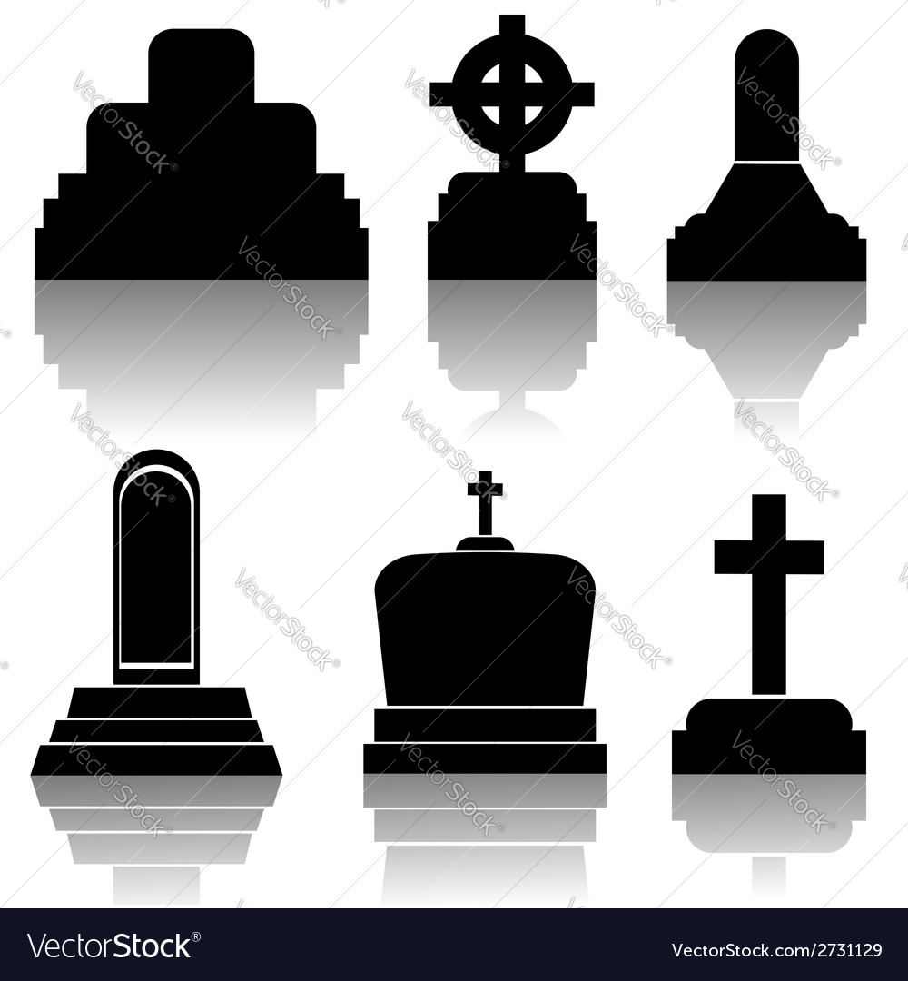Black gravestones vector | Price: 1 Credit (USD $1)