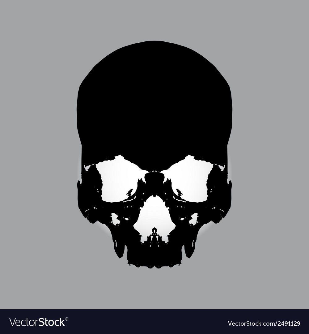 Black human skull eps10 vector | Price: 1 Credit (USD $1)
