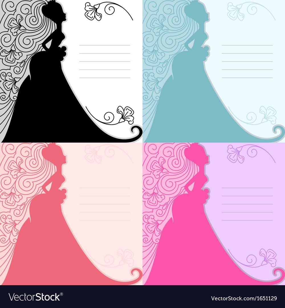 Bride invitation vector | Price: 1 Credit (USD $1)