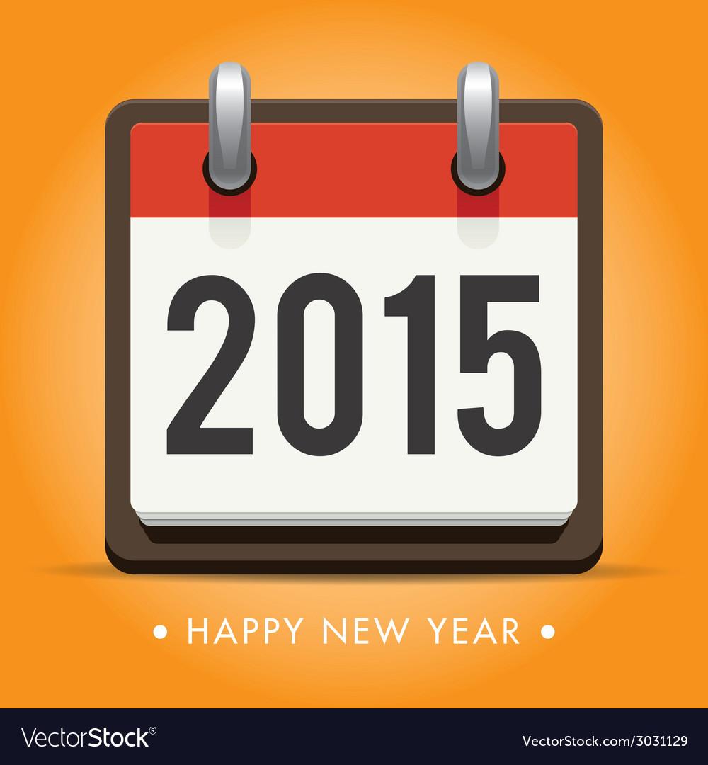 Calendar 2015 happy new year card vector | Price: 1 Credit (USD $1)