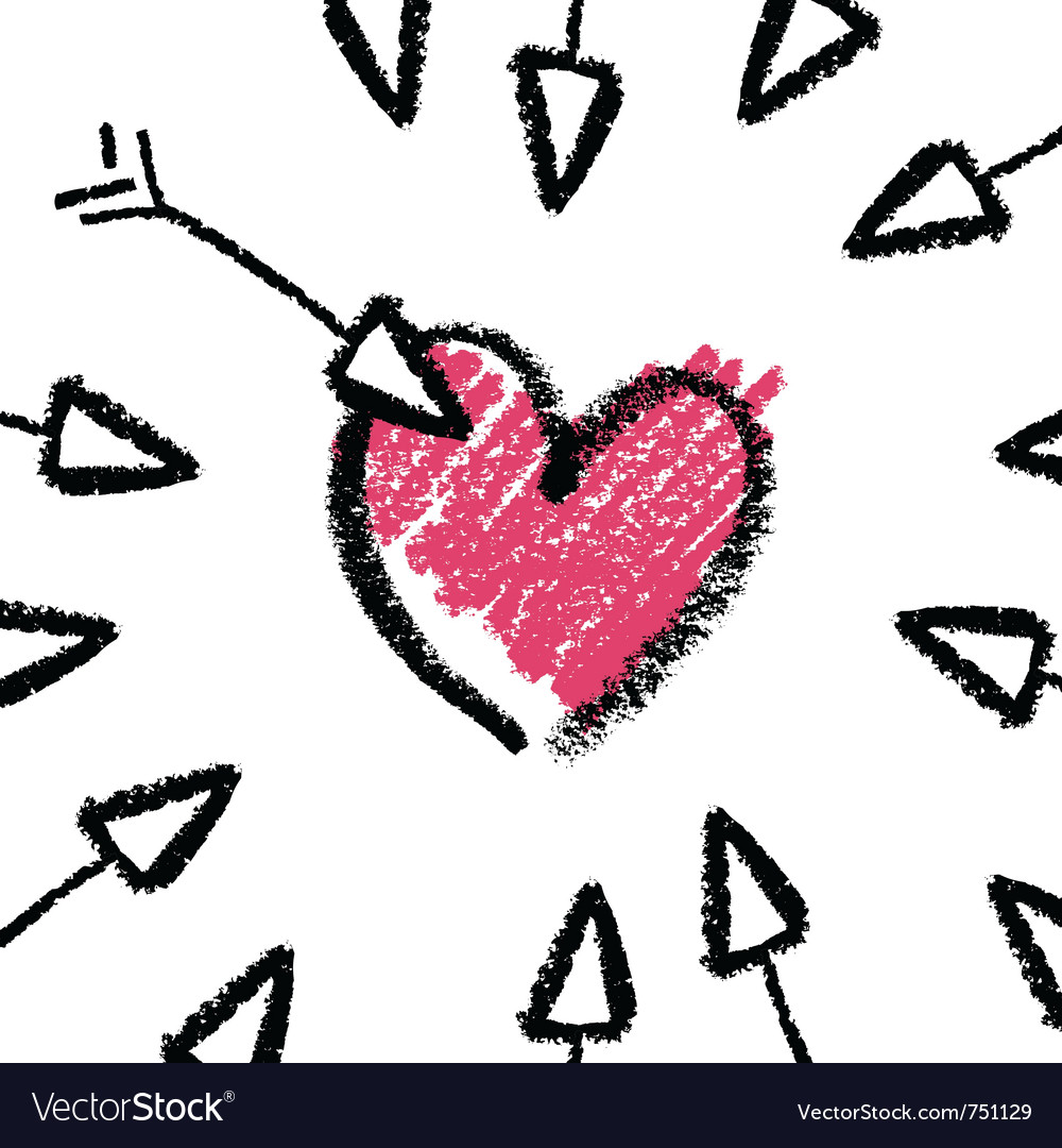 Crayon valentines day vector | Price: 1 Credit (USD $1)