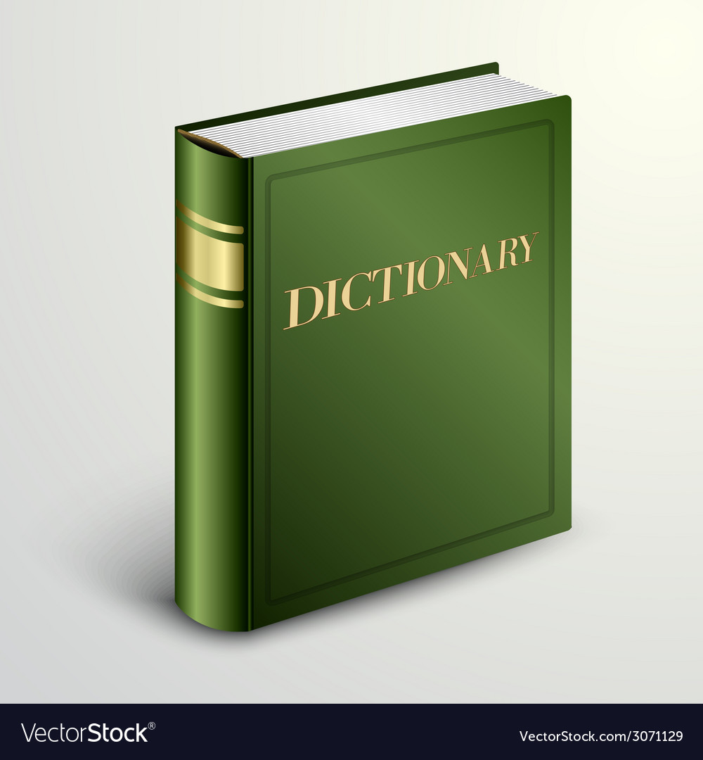 Green dictionary book vector | Price: 1 Credit (USD $1)