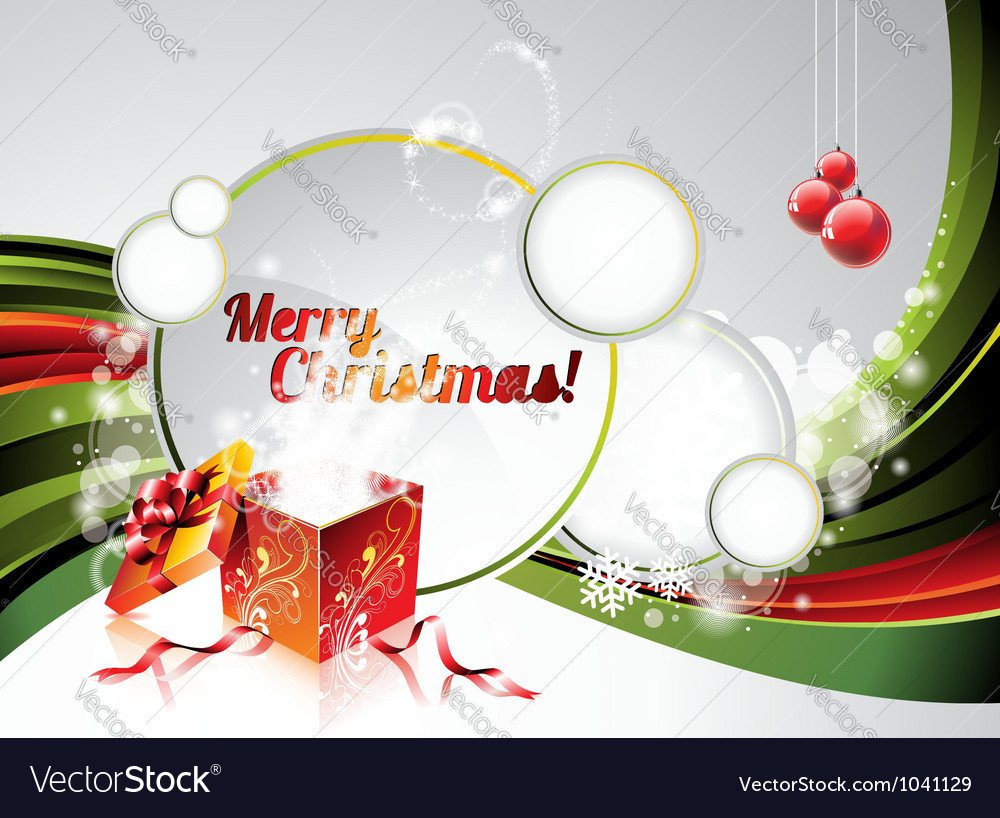 Holiday on a christmas theme with mag vector | Price: 1 Credit (USD $1)
