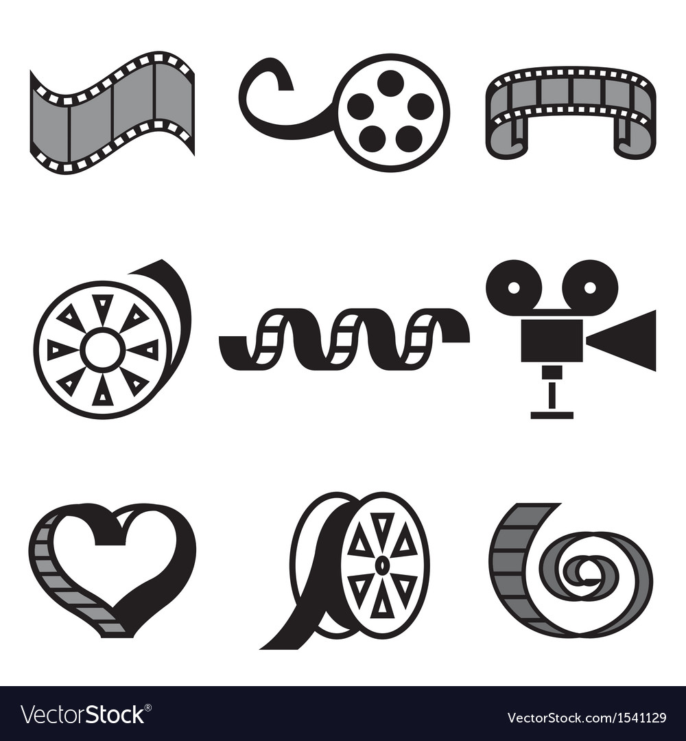 Logo icons movie vector | Price: 3 Credit (USD $3)