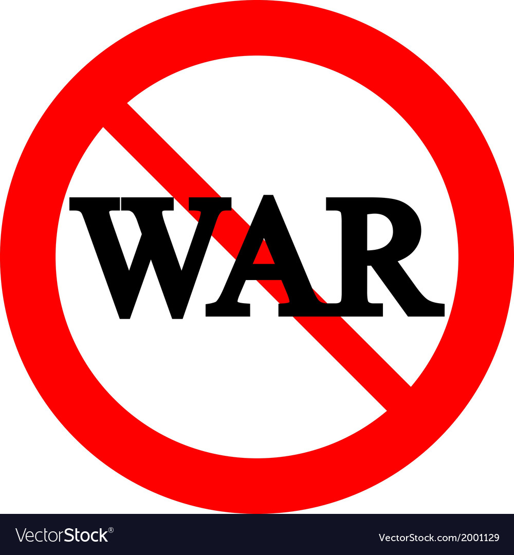 No war sign vector | Price: 1 Credit (USD $1)