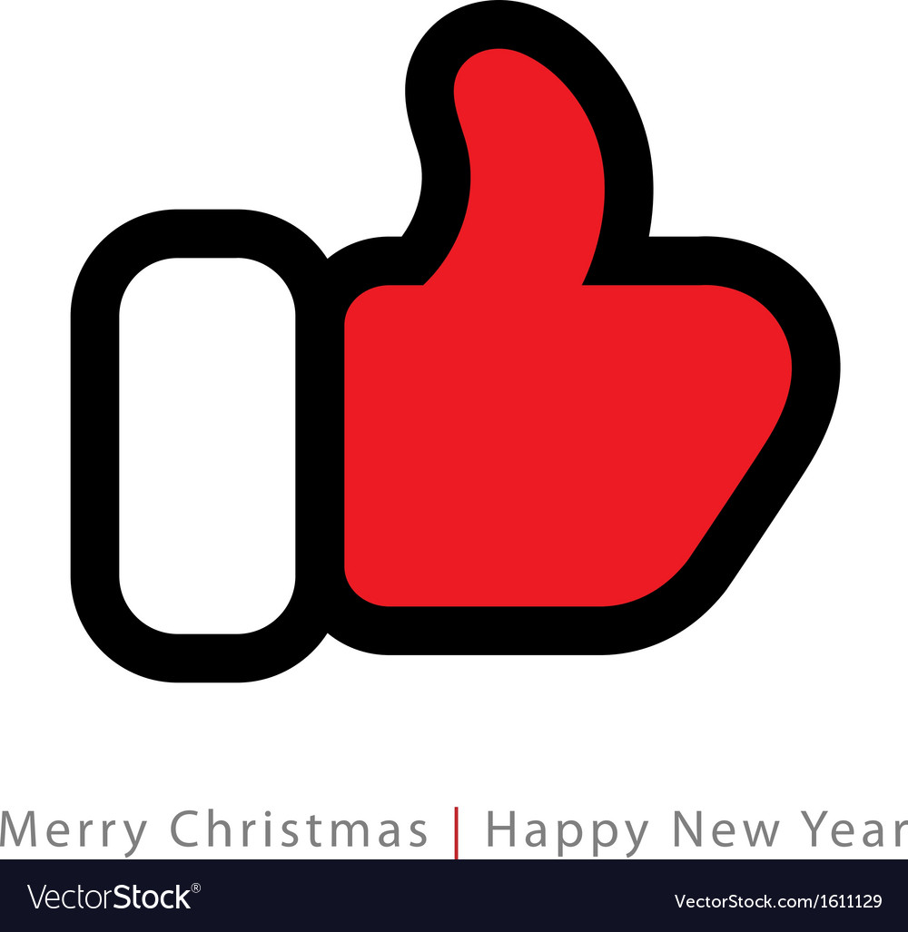 Red mitten thumb up icon vector   Price: 1 Credit (USD $1)