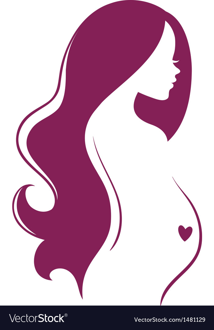 Silhouette pregnant vector | Price: 1 Credit (USD $1)