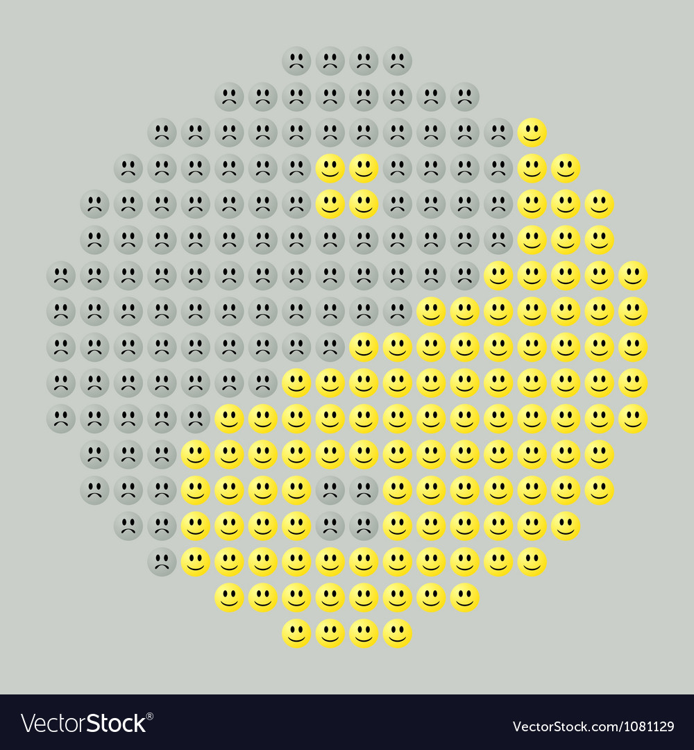 Smiley yin yang vector | Price: 1 Credit (USD $1)