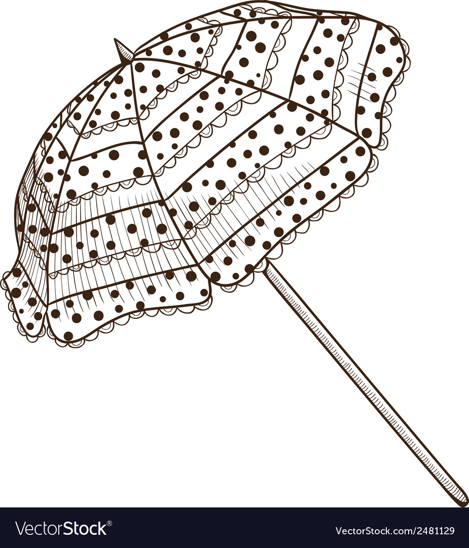 Sun umbrella isolated on white vector | Price: 1 Credit (USD $1)