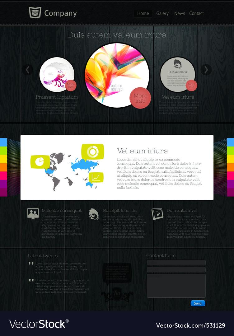 Website design template vector | Price: 3 Credit (USD $3)