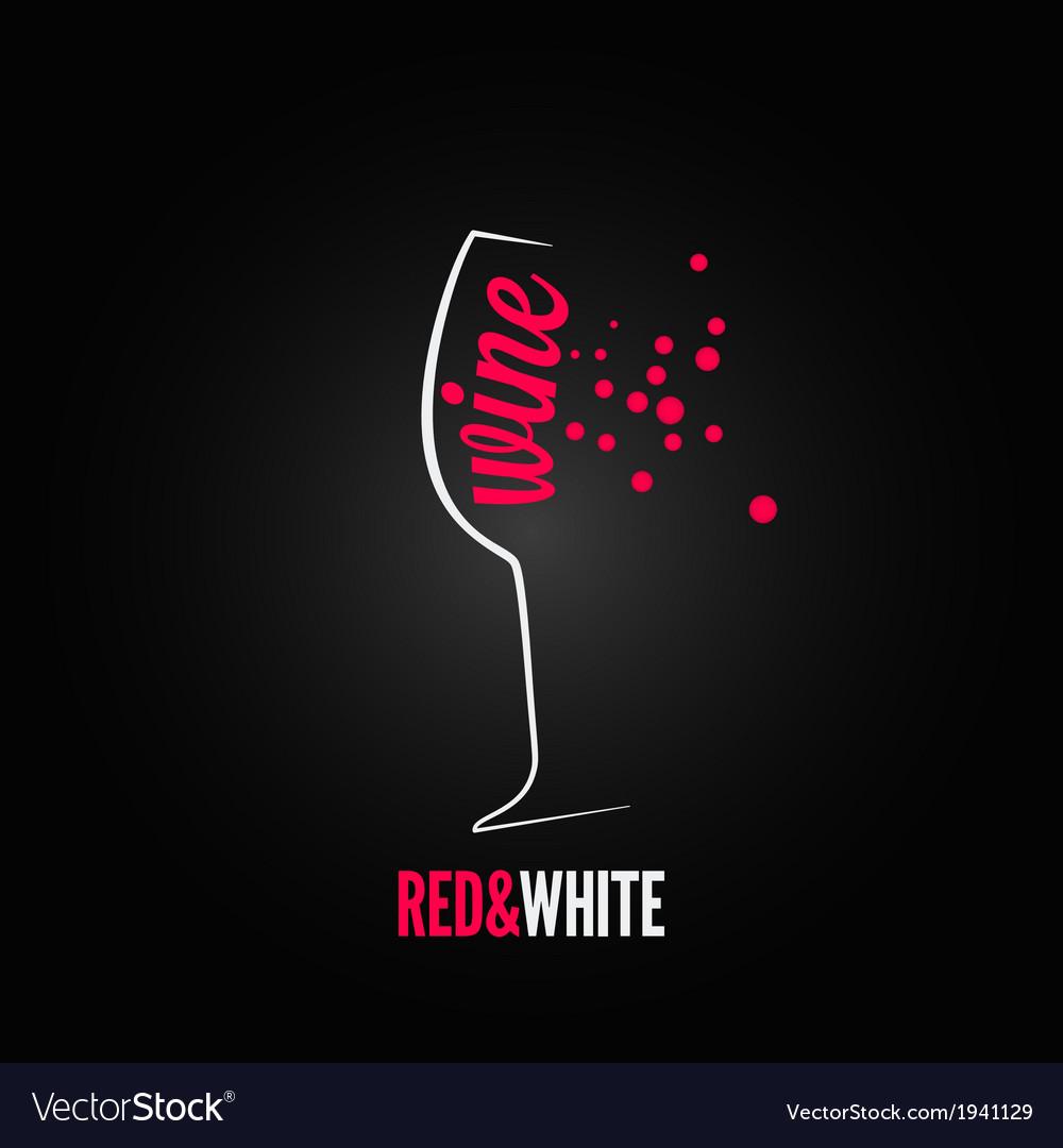 Wine glass bubbles splash menu background vector   Price: 1 Credit (USD $1)