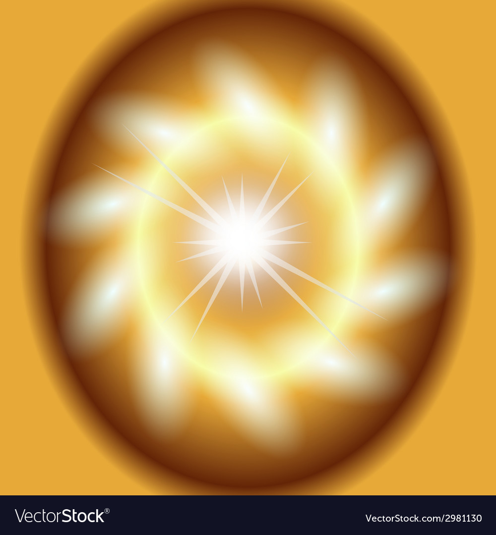 Abstract gold background lighting swirl flare vector | Price: 1 Credit (USD $1)