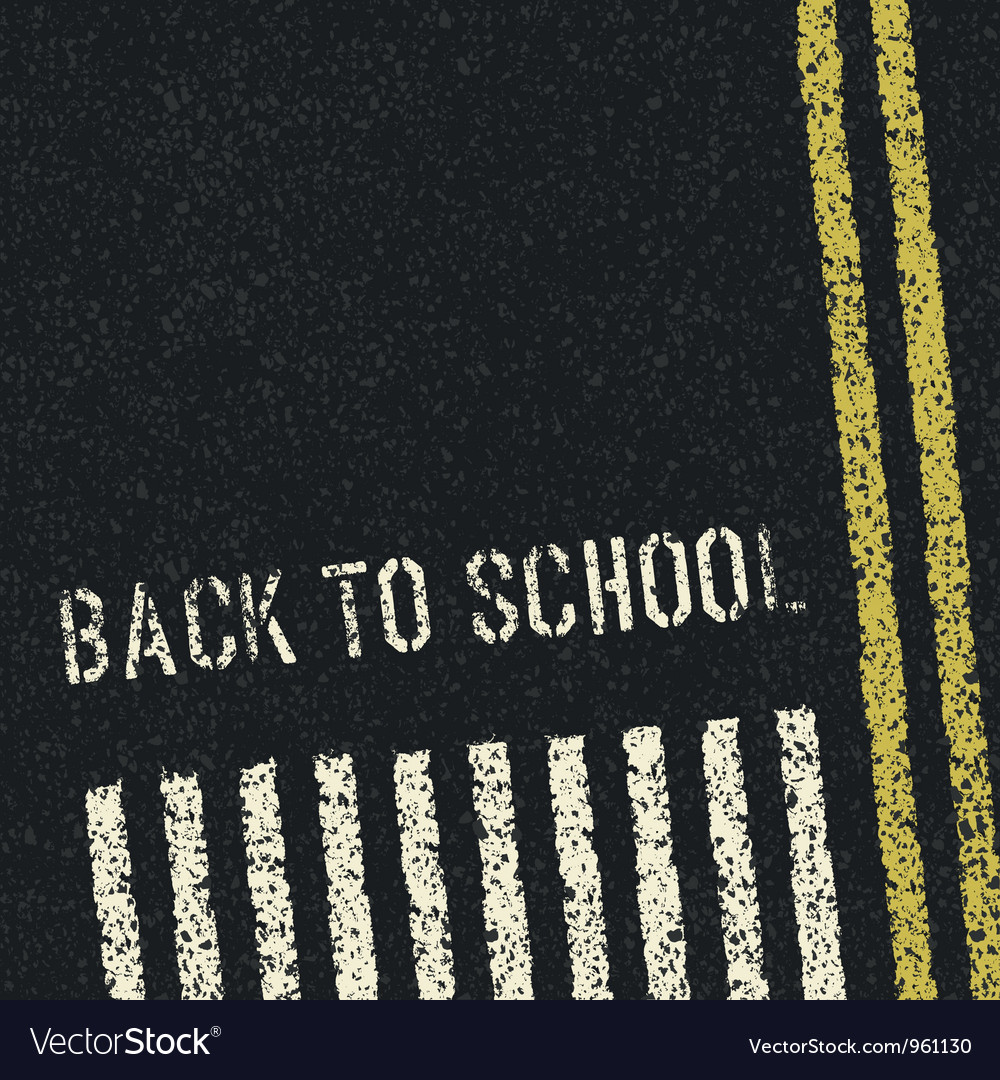 Back to school road concept vector | Price: 1 Credit (USD $1)
