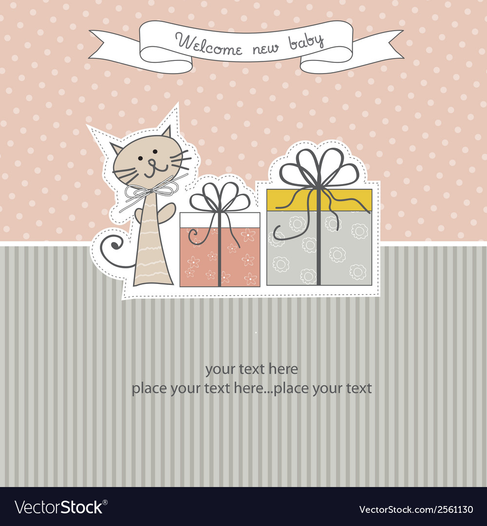 Birthday announcement card vector | Price: 1 Credit (USD $1)