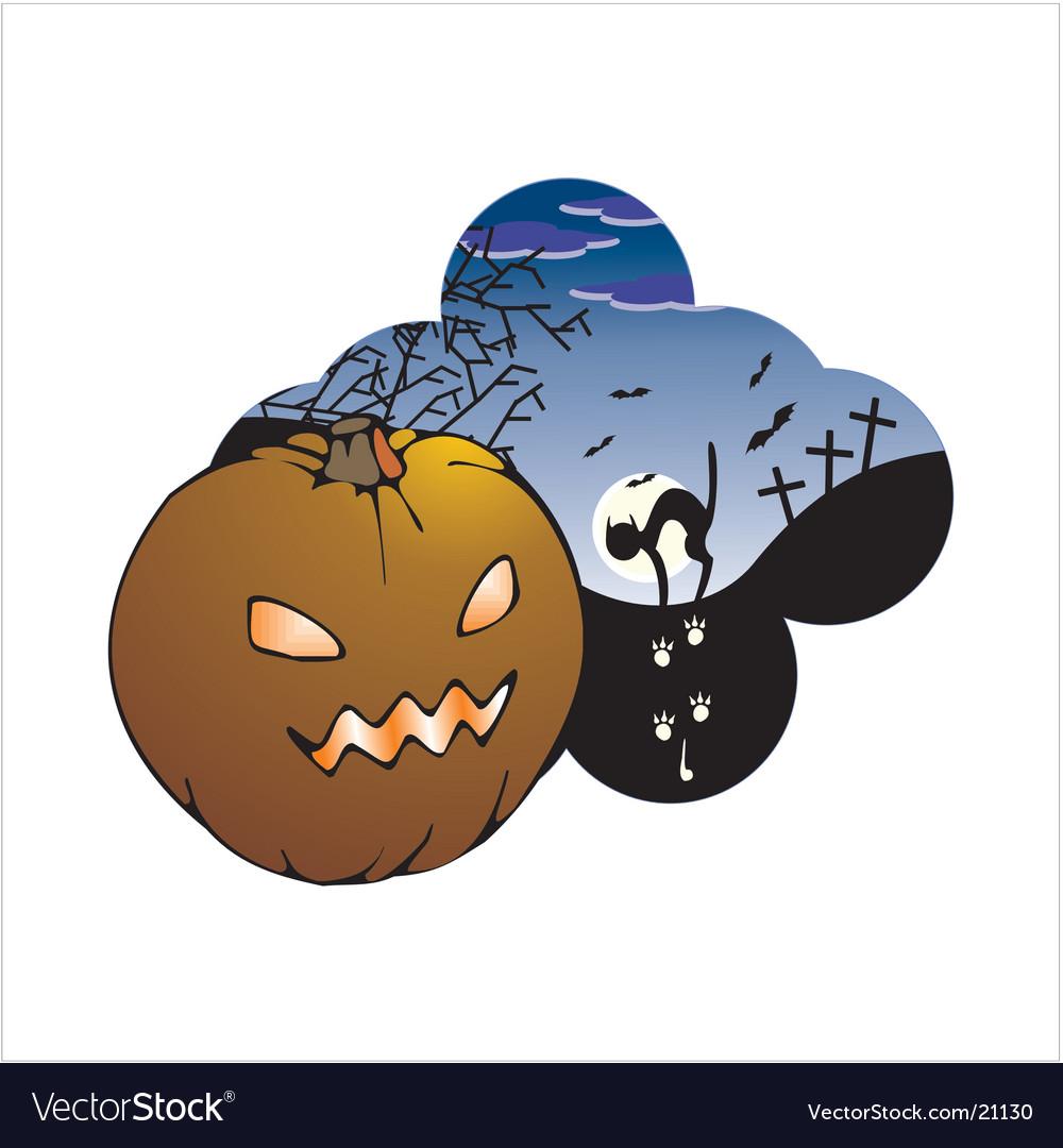 Halloween label vector   Price: 1 Credit (USD $1)