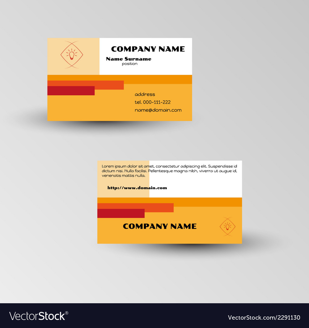 Modern brown business card template vector | Price: 1 Credit (USD $1)