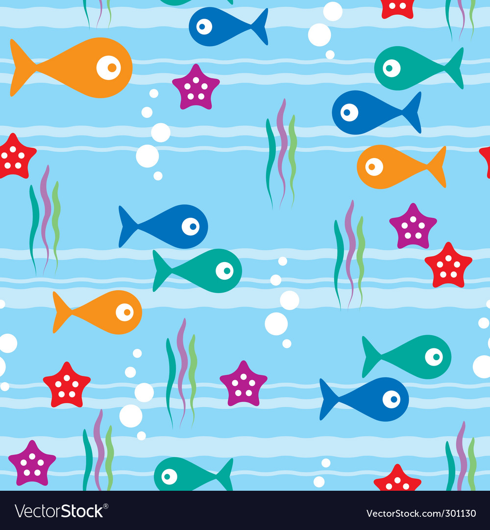 Sea seamless background vector | Price: 1 Credit (USD $1)
