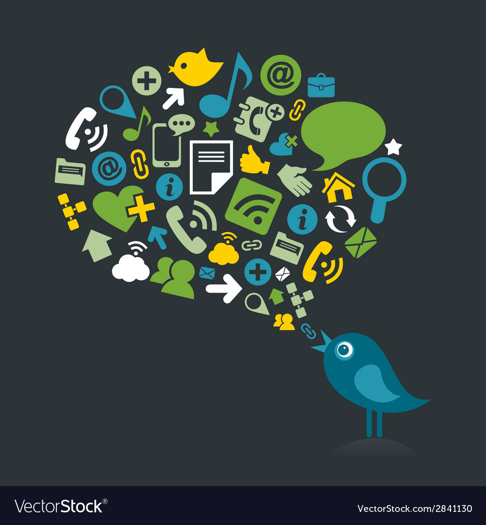 Social bird2 vector | Price: 1 Credit (USD $1)