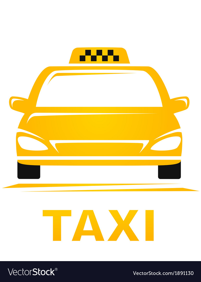 Yellow taxi car vector | Price: 1 Credit (USD $1)