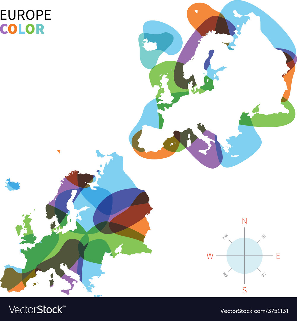Abstract color map of europe vector | Price: 1 Credit (USD $1)