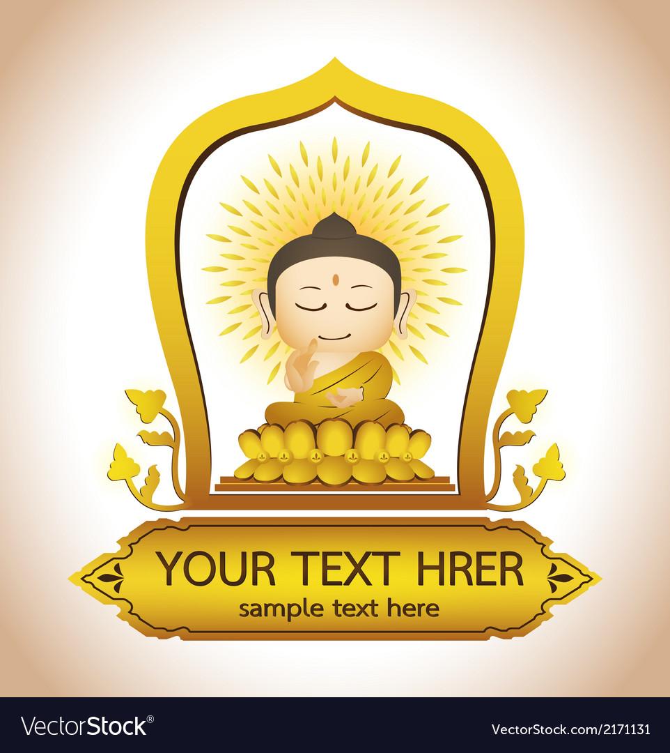 Buddha thailand art vector | Price: 1 Credit (USD $1)