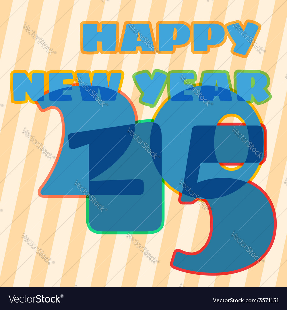 Childish new year card with 2015 sign vector | Price: 1 Credit (USD $1)