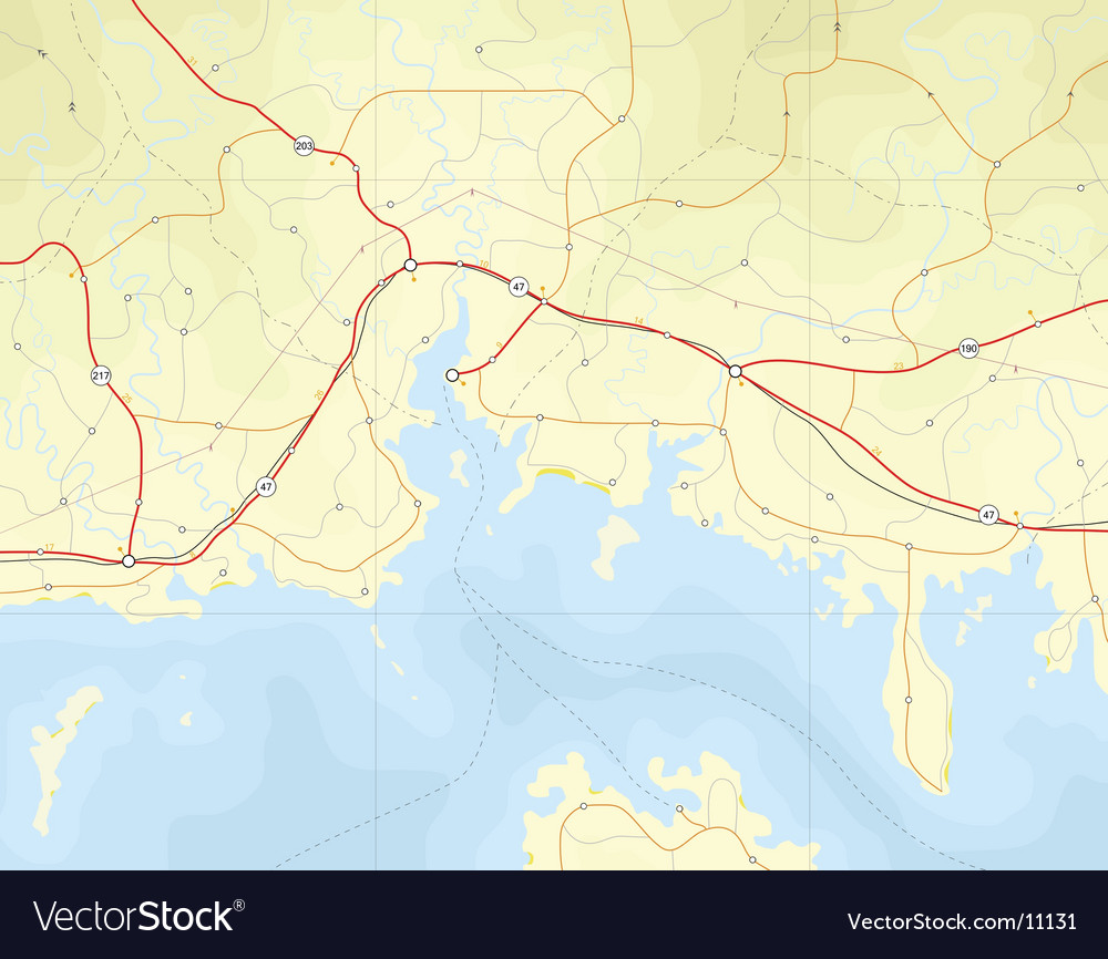 Coastal map vector | Price: 3 Credit (USD $3)