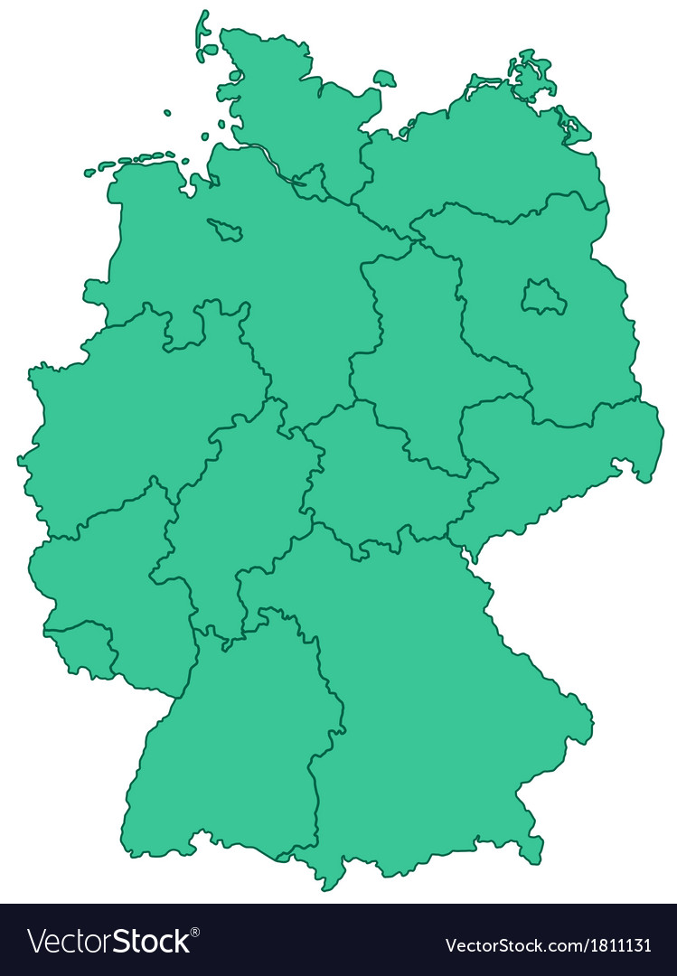 Contour map of germany vector | Price: 1 Credit (USD $1)