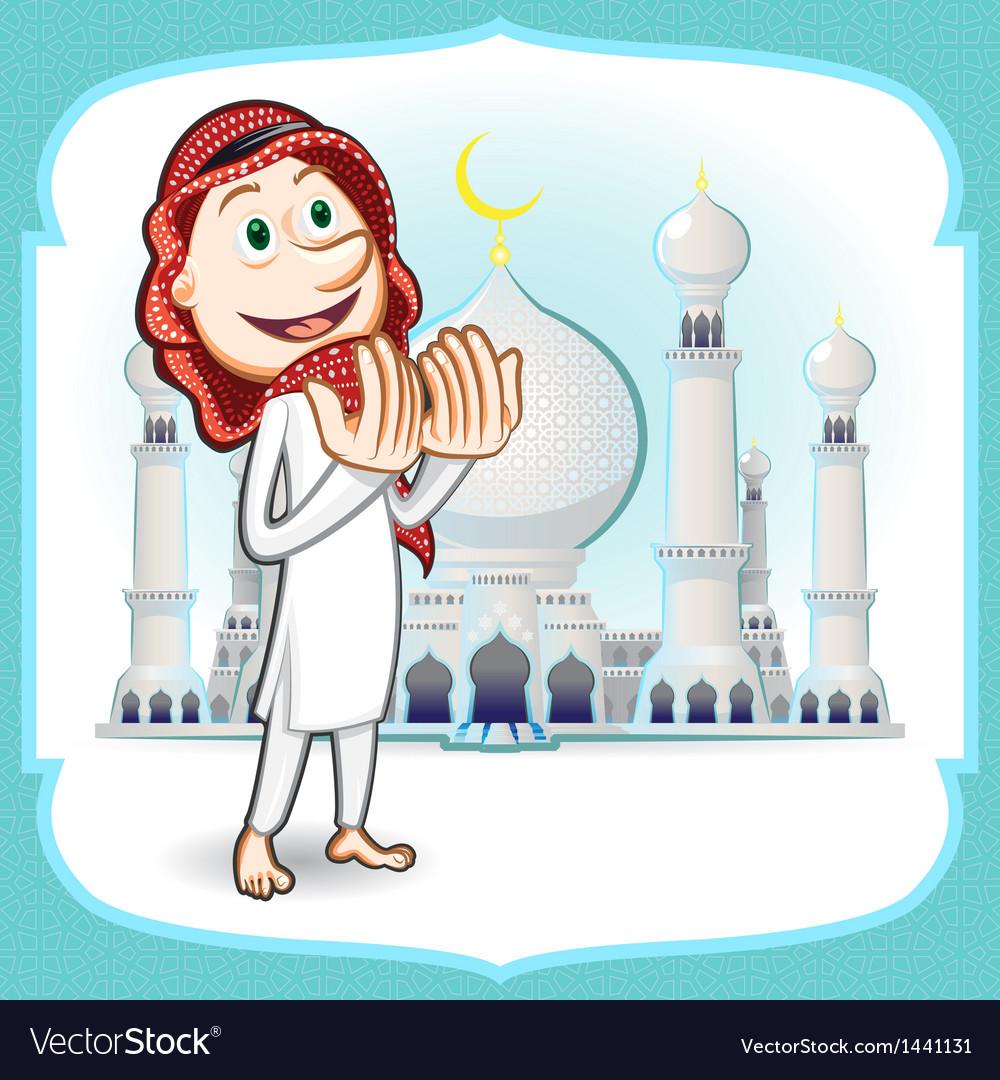 Eid mubarak greeting card vector | Price: 3 Credit (USD $3)