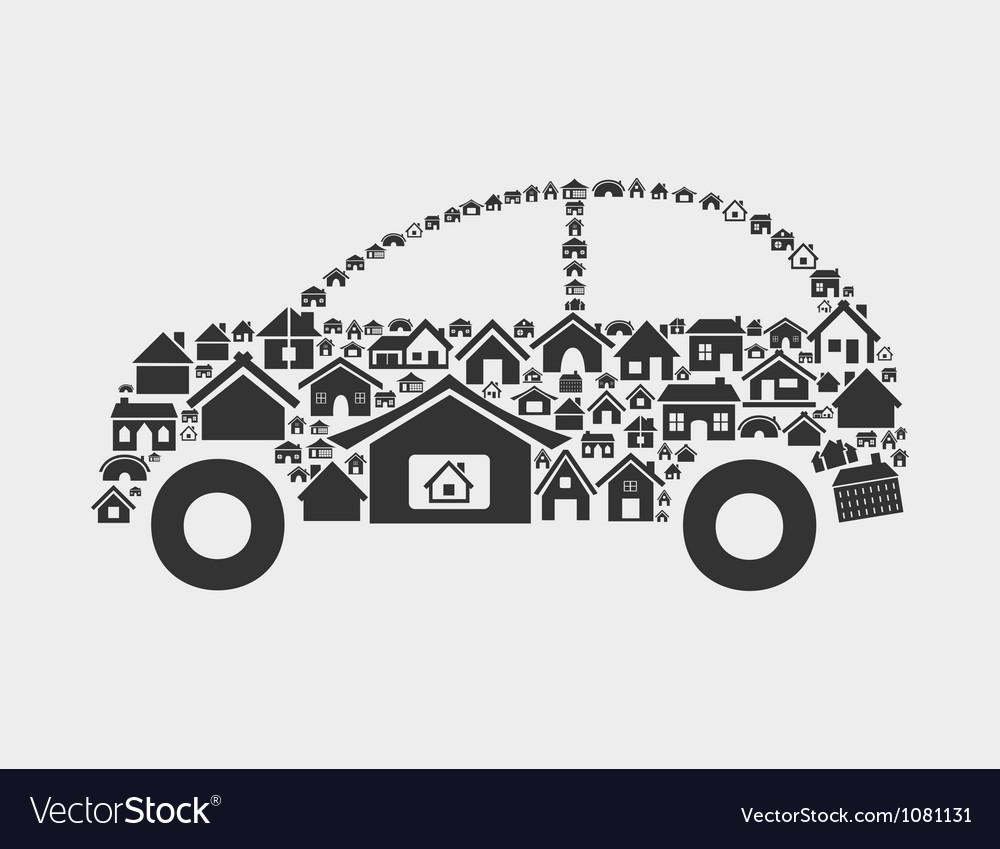 House the car vector | Price: 1 Credit (USD $1)