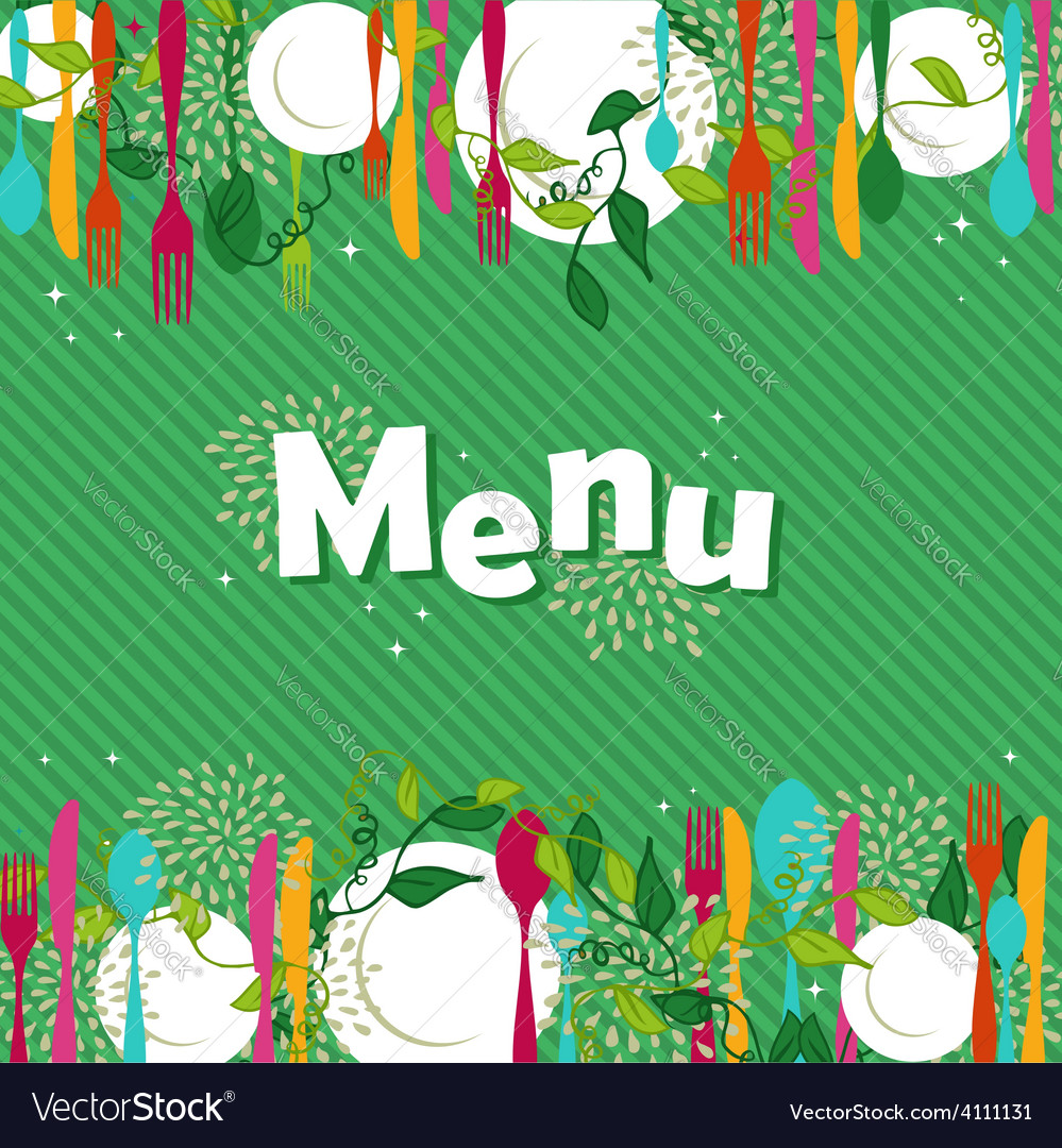 Restaurant food menu design vector | Price: 1 Credit (USD $1)