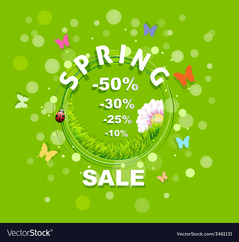 Spring sale discount background vector | Price: 1 Credit (USD $1)