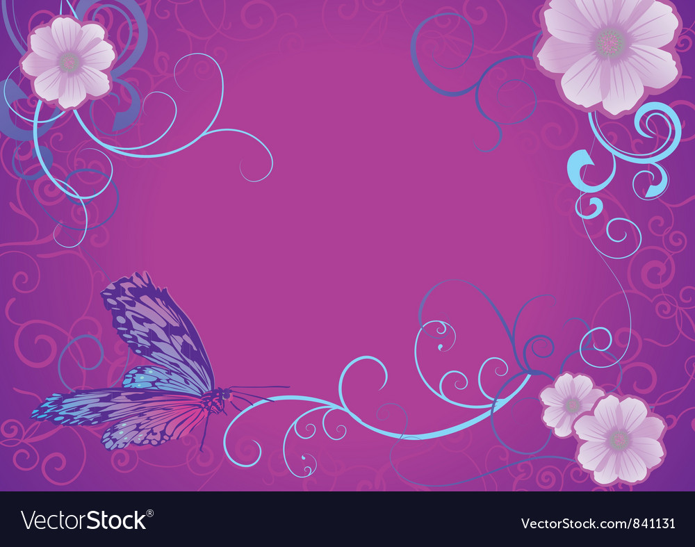Violet butterfly vector | Price: 1 Credit (USD $1)