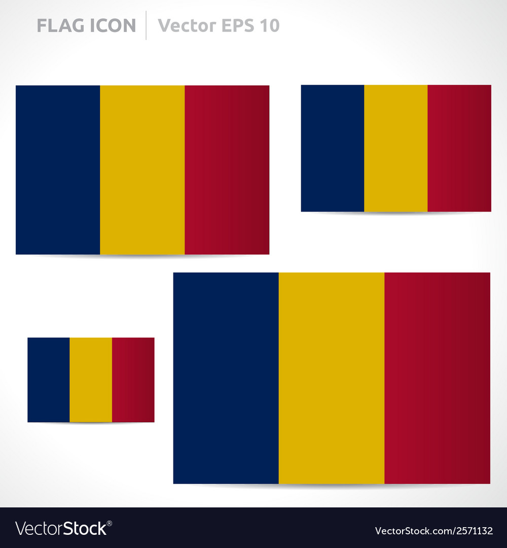 Chad flag template vector | Price: 1 Credit (USD $1)