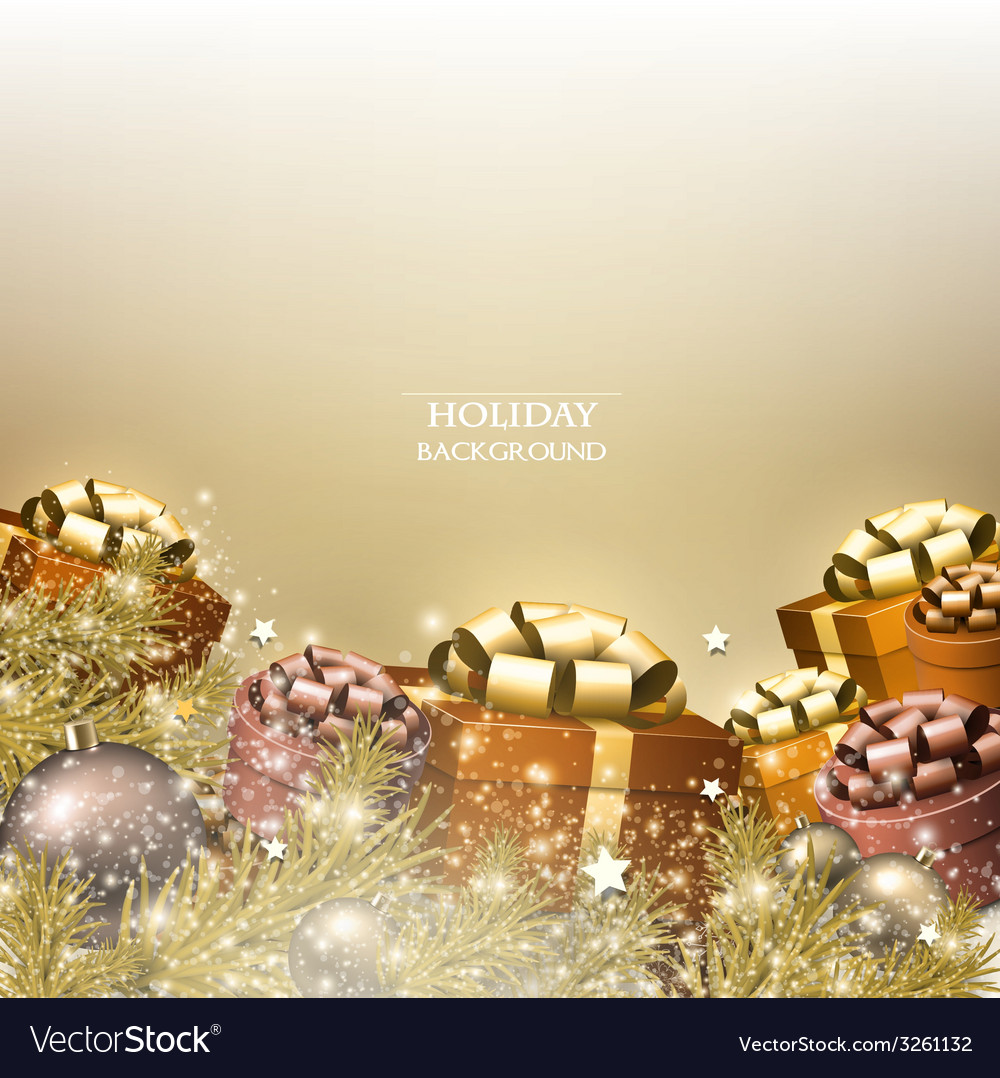 Christmas background with gifts xmas boxes with vector | Price: 1 Credit (USD $1)