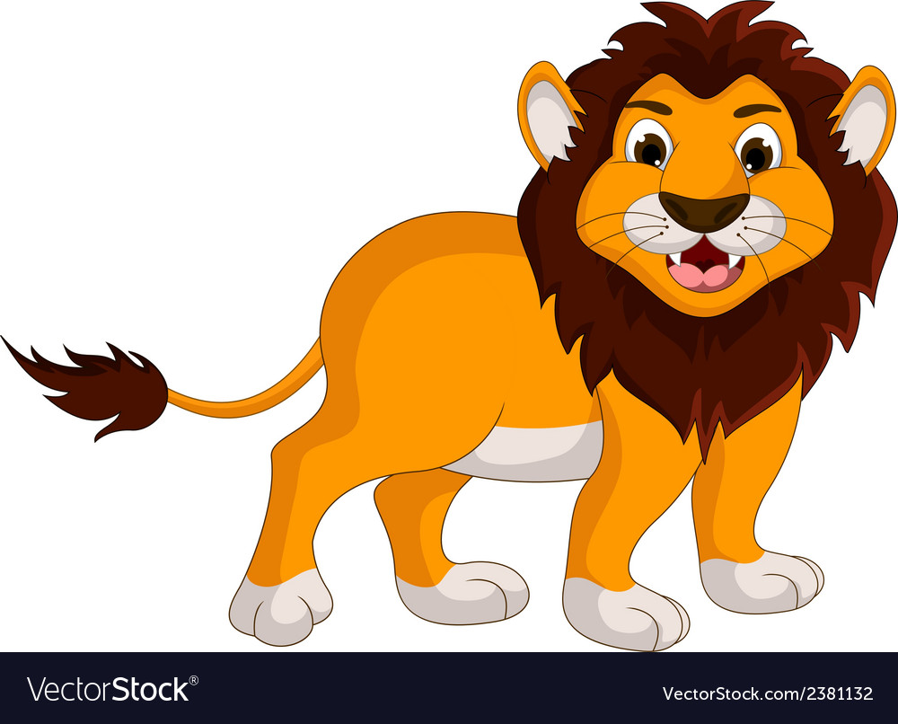 Cute lion cartoon smiling vector | Price: 1 Credit (USD $1)
