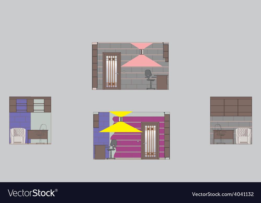 Drawing room walls v vector | Price: 1 Credit (USD $1)