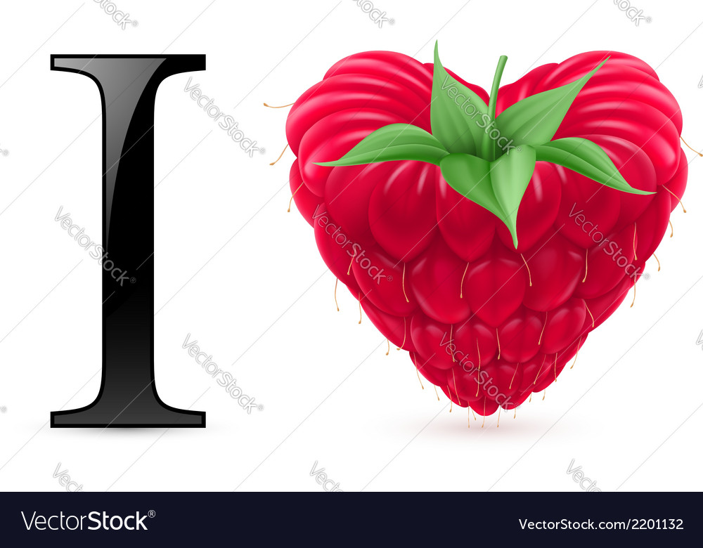 I love raspberry vector | Price: 1 Credit (USD $1)