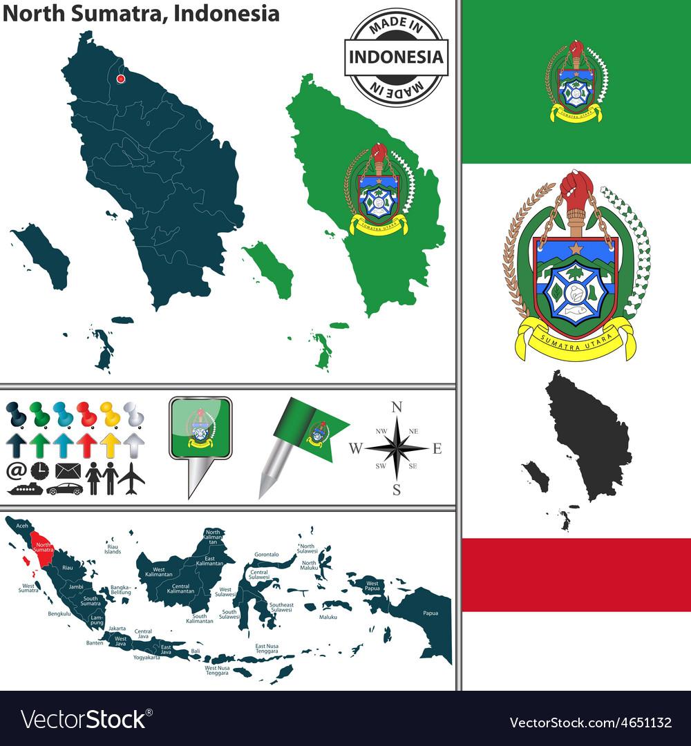 Map of north sumatra vector | Price: 1 Credit (USD $1)