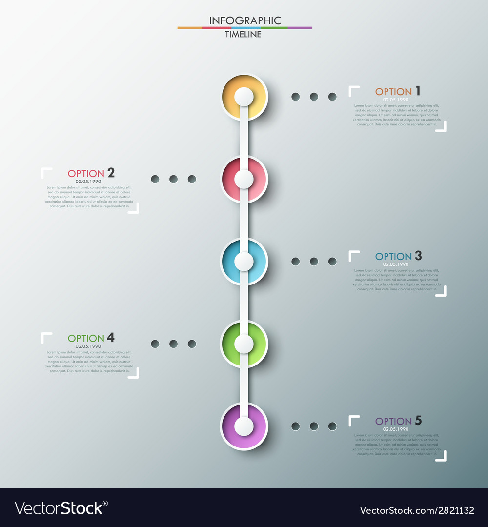 Modern infographics timeline vector | Price: 1 Credit (USD $1)